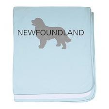 Newfoundland Dog baby blanket