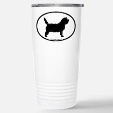 PBGV Dog Oval Travel Mug