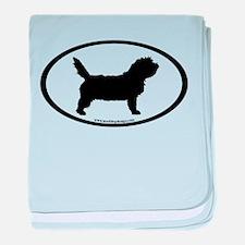 PBGV Dog Oval baby blanket