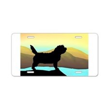 Petit Basset By The Sea Aluminum License Plate