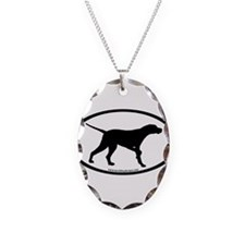 Pointer Dog Oval Necklace