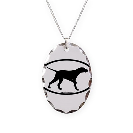 Pointer Dog Oval Necklace Oval Charm