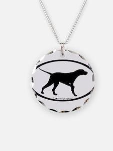 Pointer Dog Oval Necklace