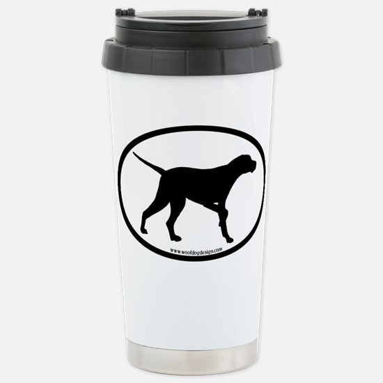 Pointer Dog Oval Stainless Steel Travel Mug