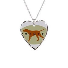 Pointer Dog (Sage) Necklace
