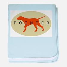 Pointer Dog (Sage) baby blanket