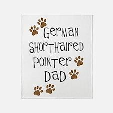 G. Shorthaired Pointer Dad Throw Blanket