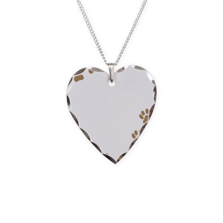 German Shorthaired Pointer Mo Necklace Heart Charm