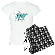 Elegant Teal GSP Dog Pajamas