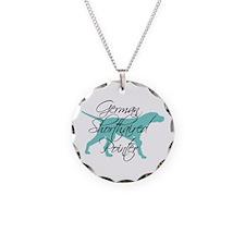 Elegant Teal GSP Dog Necklace