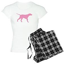 Pink Pointer Dog Pajamas