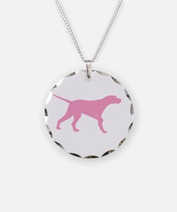 Pink Pointer Dog Necklace