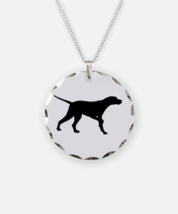 Pointer Dog On Point Necklace