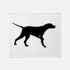 Pointer Dog On Point Throw Blanket