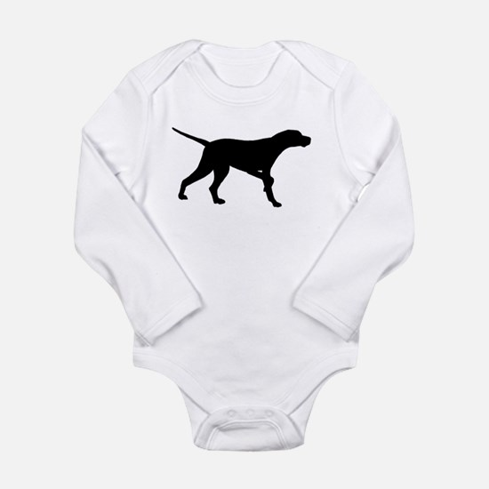 Pointer Dog On Point Long Sleeve Infant Bodysuit