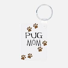 Pug Mom Keychains