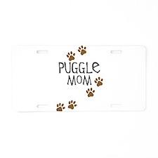 Puggle Mom Aluminum License Plate