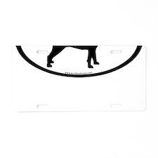 Puggle Dog Oval Aluminum License Plate