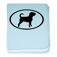 Puggle Dog Oval baby blanket
