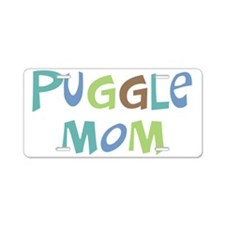 Puggle Mom (Text) Aluminum License Plate