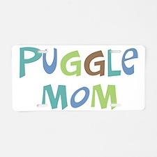 Puggle Mom (Text) Aluminum License Plate