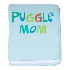 Puggle Mom (Text) baby blanket
