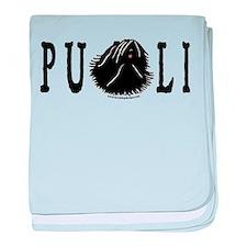 Dread Text Puli Dog baby blanket