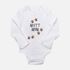 Mutt Mom Long Sleeve Infant Bodysuit