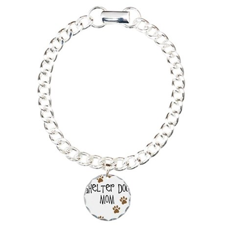 Shelter Dog Mom Charm Bracelet, One Charm