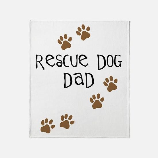 Rescue Dog Dad Throw Blanket