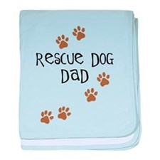 Rescue Dog Dad baby blanket