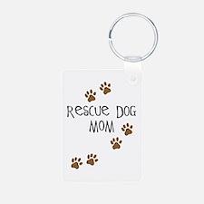 Rescue Dog Mom Keychains