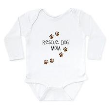 Rescue Dog Mom Long Sleeve Infant Bodysuit
