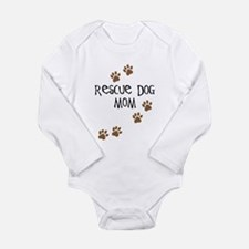 Rescue Dog Mom Long Sleeve Infant Bodysuit