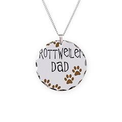 Rottweiler Dad Necklace