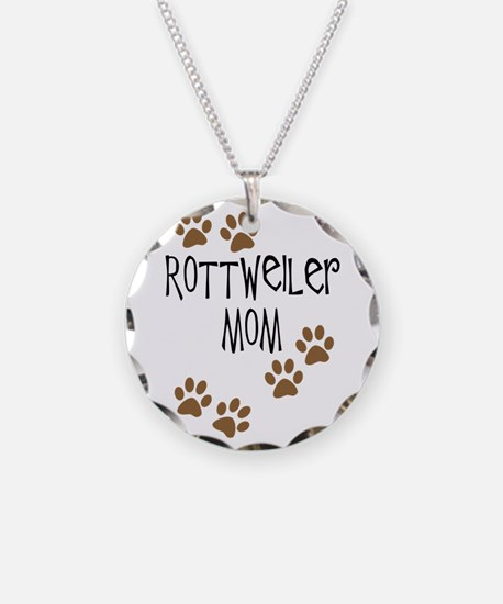 Rottweiler Mom Necklace