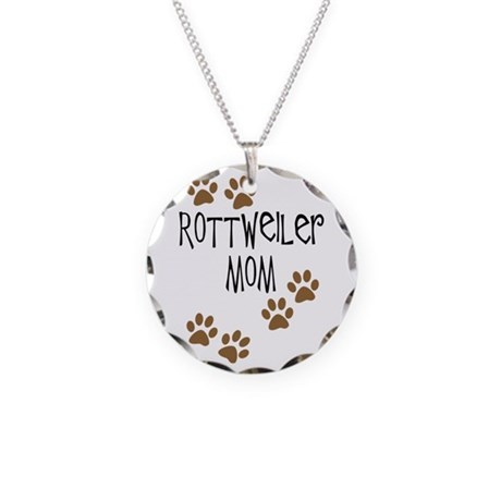 Rottweiler Mom Necklace Circle Charm