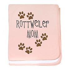 Rottweiler Mom baby blanket