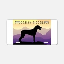Ridgeback Dog Mountains Aluminum License Plate