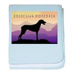 Ridgeback Dog Mountains baby blanket