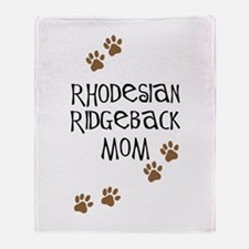 Ridgeback Mom Throw Blanket