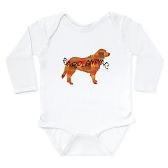 plaid sarplaninac Long Sleeve Infant Bodysuit