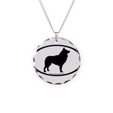 Schipperke Oval Necklace
