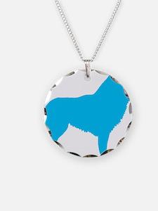 Blue Schipperke Necklace