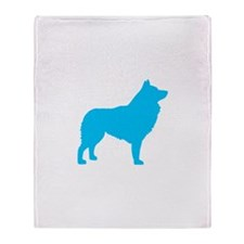 Blue Schipperke Throw Blanket