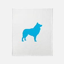 Blue Schipperke Throw Blanket