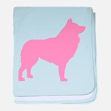 Pink Schipperke baby blanket