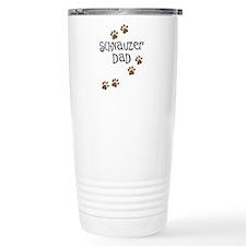 Paw Prints Schnauzer Dad Travel Mug