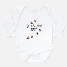 Paw Prints Schnauzer Dad Long Sleeve Infant Bodysu