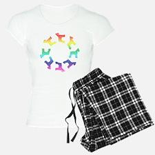 Rainbow Schnauzer Circle Pajamas